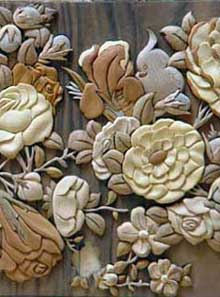Monabat ( Marquetry - Wood carving )